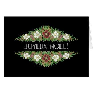 Christmas Roses, Hellebores, French Language Card
