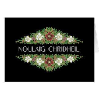 Christmas Roses, Hellebores, Scottish Gaelic Card
