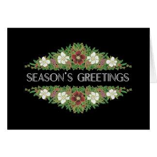 Christmas Roses, Hellebores, Season's Greetings Card