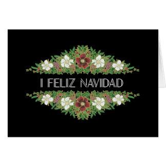 Christmas Roses, Hellebores, Spanish Greeting Card
