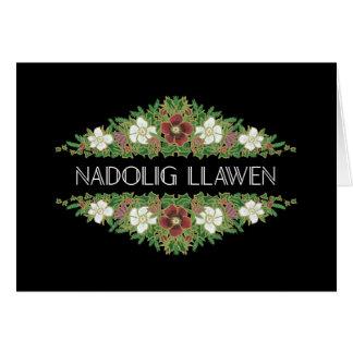 Christmas Roses, Hellebores, Welsh Greeting Card