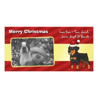 Christmas Rottweiler Customized Photo Card