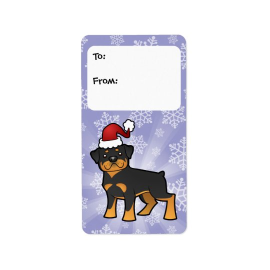 Christmas Rottweiler Gift Tags Address Label