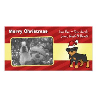 Christmas Rottweiler Customised Photo Card