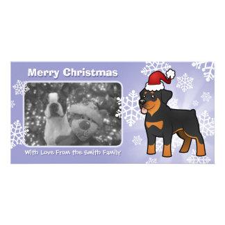 Christmas Rottweiler Photo Cards