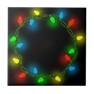 Christmas round lights ceramic tile