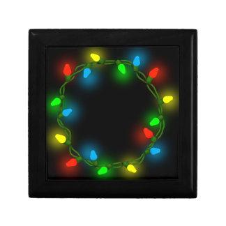Christmas round lights gift box