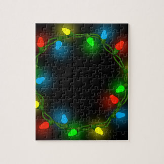 Christmas round lights jigsaw puzzle