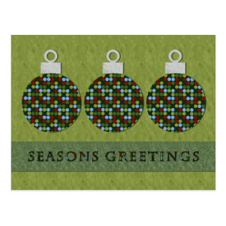 Christmas Round Ornament Postcard