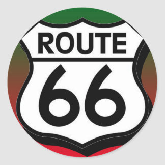 Christmas Route 66 Shield Classic Round Sticker