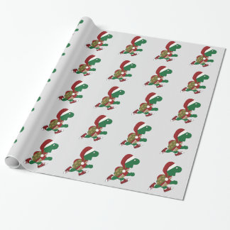 Christmas Running Turtle Wrapping Paper