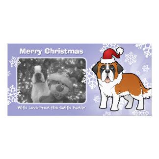 Christmas Saint Bernard Photo Cards