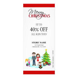 Christmas Sale Xmas Family Rack Cards Rack Card Design