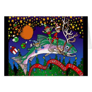 Christmas Salmon Card