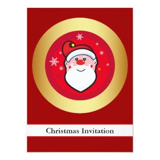 Christmas Santa 14 Cm X 19 Cm Invitation Card