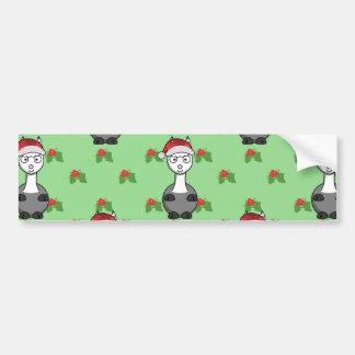 christmas santa Alpaca Bumper Sticker