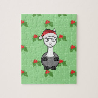 christmas santa Alpaca Jigsaw Puzzle