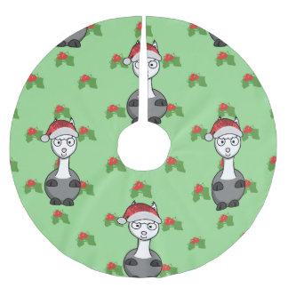 christmas santa alpaca tree skirt