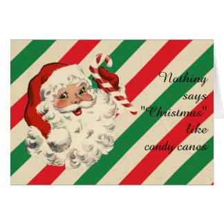 Christmas Santa and Candy Canes Card