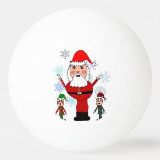 Christmas Santa and Elves Ping Pong Ball
