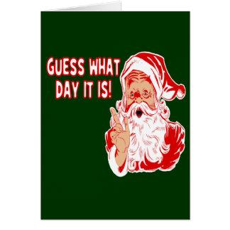 Christmas Santa and Hump Day Camel Greeting Card