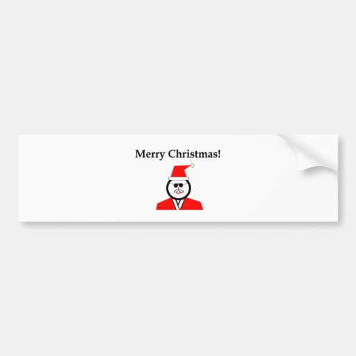 Christmas Santa Bumper Stickers