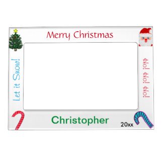 Christmas Santa Candy Canes NAME Picture Frames