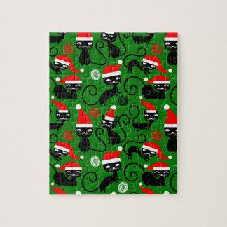christmas santa cats jigsaw puzzle