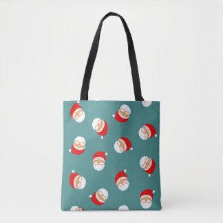 Christmas Santa Classic Cartoon Stylish Pattern Tote Bag