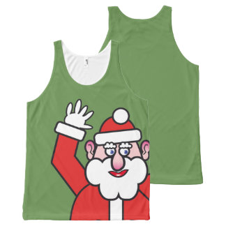 Christmas Santa Claus All-Over Print Singlet