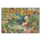 Christmas Santa Claus Antique Vintage Victorian Tissue Paper