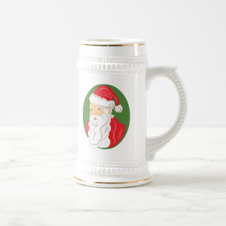 Christmas Santa Claus Cameo Beer Stein