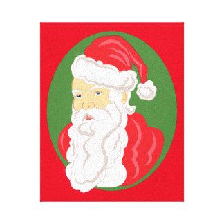 Christmas Santa Claus Cameo Canvas Print