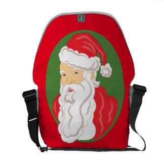 Christmas Santa Claus Cameo Commuter Bags