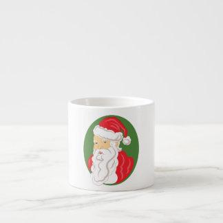 Christmas Santa Claus Cameo Espresso Cup