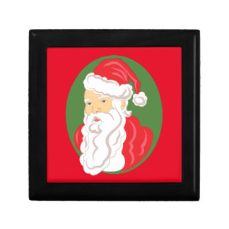 Christmas Santa Claus Cameo Gift Box