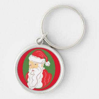 Christmas Santa Claus Cameo Key Ring