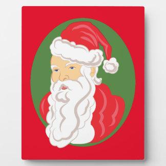 Christmas Santa Claus Cameo Plaque