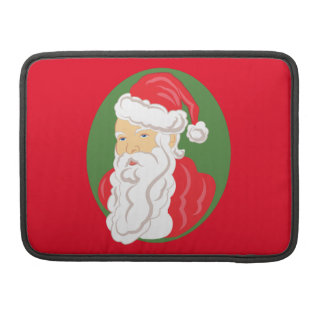 Christmas Santa Claus Cameo Sleeve For MacBook Pro
