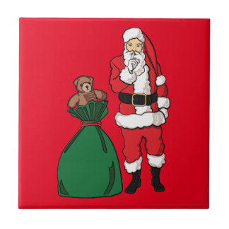 Christmas Santa Claus Ceramic Tile