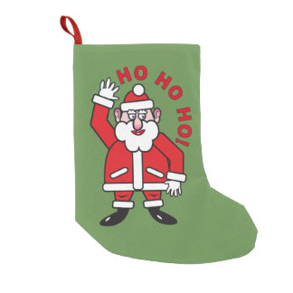 Christmas Santa Claus HO HO HO! Small Christmas Stocking
