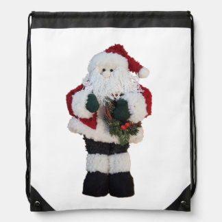 Christmas Santa Claus | Holiday Whimsical Drawstring Bag