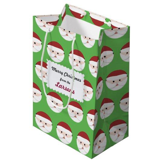 Christmas Santa Claus Medium Gift Bag