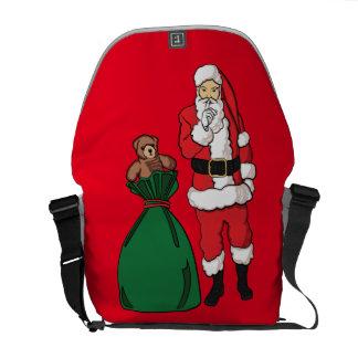 Christmas Santa Claus Messenger Bag