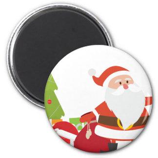 Christmas Santa Claus Presents Gift Cute Cartoon 6 Cm Round Magnet