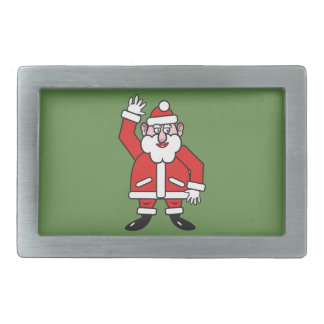 Christmas Santa Claus Rectangular Belt Buckle