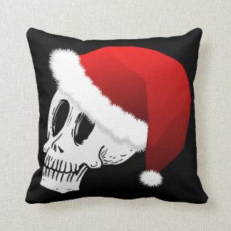 Christmas Santa Claus Skull Cushion