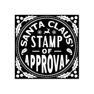 Christmas Santa Claus Stamp of Approval Funny