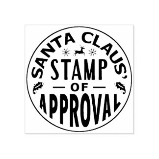 Christmas Santa Claus Stamp of Approval Funny v3