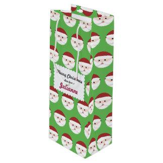 Christmas Santa Claus Wine Gift Bag